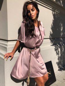 Dymovo-ružové Nomad šaty