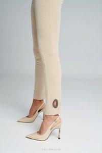 Krémové exkluzívne nohavice