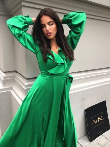 Dlhé šaty Planet zelené