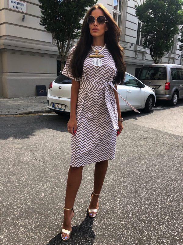 Šaty biely Nugát