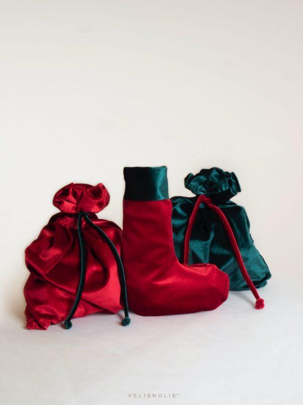 Vianočné zamatové vrecko
