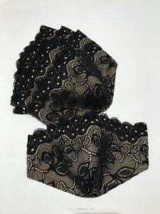 rúško čierne krajkové