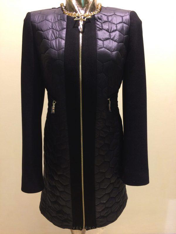 Dámsky čierny kabát