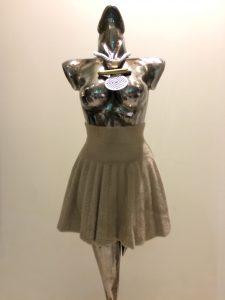 sukňa béžová pletená