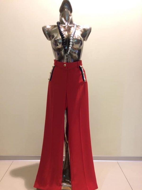 dámske červené nohavice