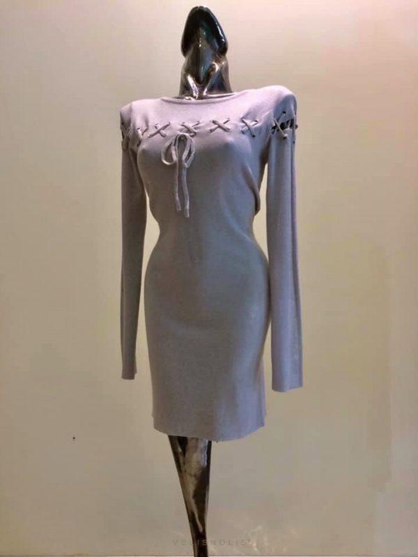 šedé šaty | pulóver