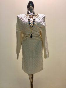 dámsky pletený set sukňa s pulóvrom