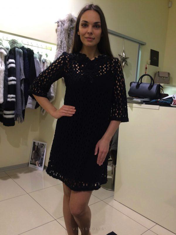 šaty čierne so samostatným kombiné