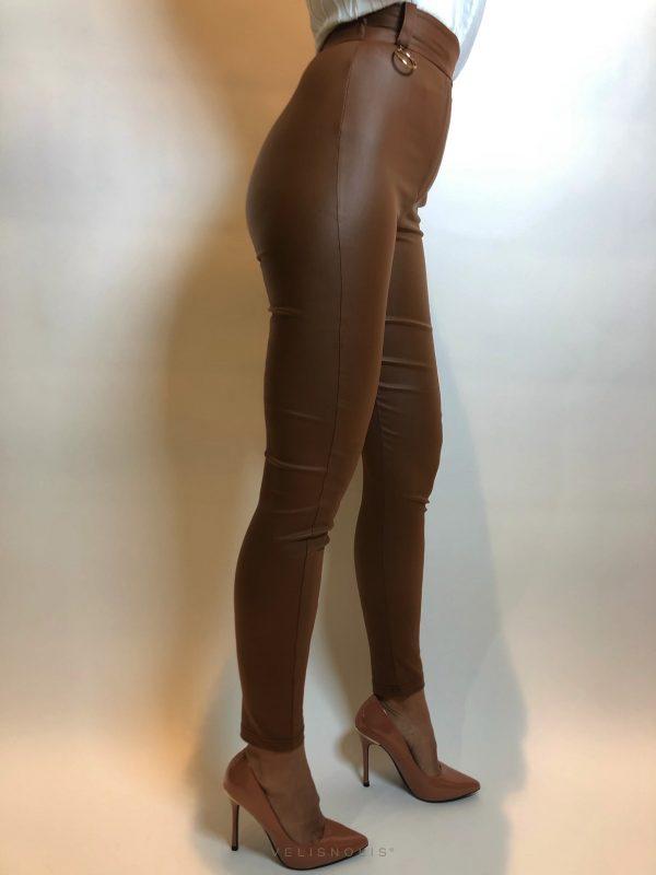 dámske strečové škoricové nohavice